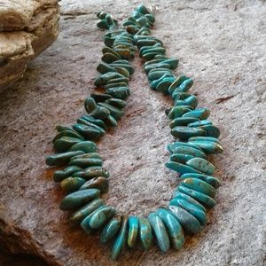 Jewelry - Sterling silver GENUINE TURQUOISE necklace